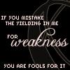 yielding in me