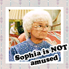 not amused sophia