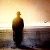 noirish, a man in a hat