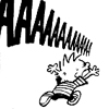 calvin screaming