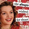she always wished for shoes