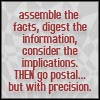 going postal with precision