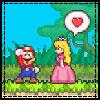 Mario and Peach Love