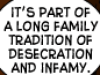 long tradition of infamy