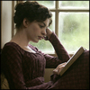 Джейн Остин с книгой