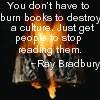 Twilight: Bradbury; ray; books; burn