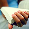 reading/book & hand