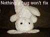 love-heart bunny, hug