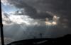 godbeams sky, storm clouds