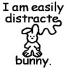 distracted bunny