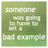 Carrie Leigh: bad example