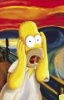 homer scream munch