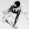sitting dancing girl (ca 1879–1880)