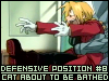 Good grief, it's a running gag: ASSUME DEFENSIVE POSTURE (FMA)
