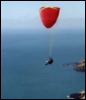 paraglide, sky, soar, air, flying