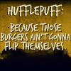 Burger Flipping Hufflepuffs