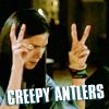creepy antlers