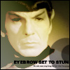 Mark: Spock- Eyebrow set to stun