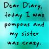 Serenity Dear diary...