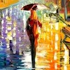 Афремов девушка под зонтом