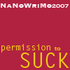 wolfraven80: NaNoWriMo permission to suck