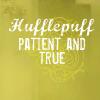 hufflepuff, patience, pride