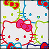 Hello Kitty -- multicolored