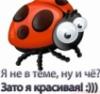 я не в тему, ну и чё?))зато я красивая))