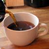 Fresh poured coffee