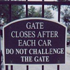 Do not challege the gate