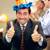 NOTHING TO SEE HERE: michael party hat