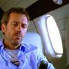 on plane