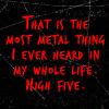 Metal high five