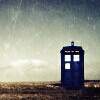 TARDIS by moonlight