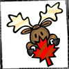 misc: moose w maple leaf