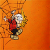 Calvin-Crap! I'm caught in a spider web!