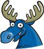 Moose: blue_art