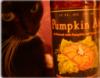 Cat with pumpkin beer
