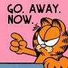 Nadine: Garfield go away