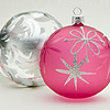 holiday | christmas balls pink
