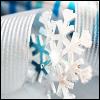 stock - snowflake and ribbon