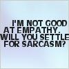 im not good at emphathy