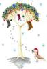 art: christmas quail