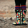 we are all islands - in a common sea.: rainboots