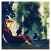 Girl with Crows, Aly Comtemplative