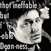 Man Writing Slash: ineffable dean