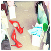 Bright: red shoes and stuff