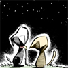 Misc: Dog and cat looking at stars