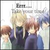 [Sukisho] Er… Take your time.