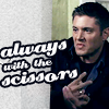 fashion metal riot: dean with the scissors!